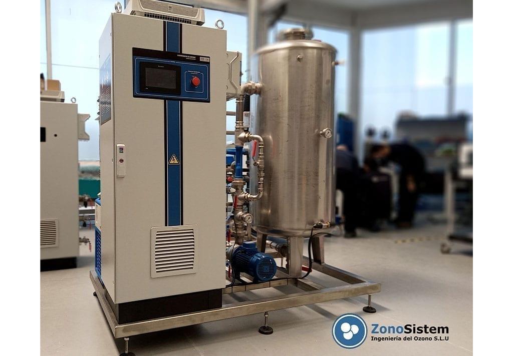 Foto generador de ozono Hidro VT GRZO150-EPSF para la eliminación de tensioactivos con destino Sri Lanka